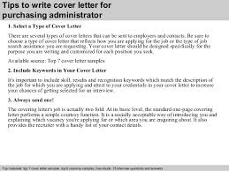 Tips to write cover letter for purchasing administrator     SlideShare