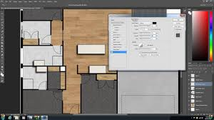 how to create a 2d colour floor plan or rendered floor plan with