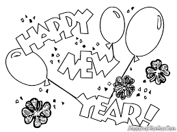 happy new year coloring pages picture coloring page 11948
