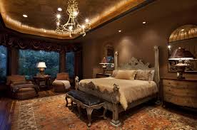 bedroom romantic recessed downlight above white king size bed in