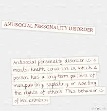 Antisocial Personality Disorder  A definition  Pinterest