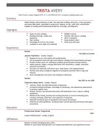 Pipefitter Resume Example by 40 Professional Welder Resume Examples Vinodomia