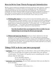 Sample Thesis Introduction Example Thesis