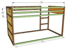 Wood Bunk Beds Plans by Ana White How To Build A Fort Bed Diy Projects