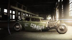 Custom Muscle Cars - car rod modified green cars muscle cars wallpaper no