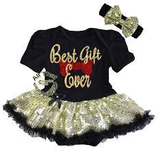 christmas for baby cute glitter best gift ever tutu