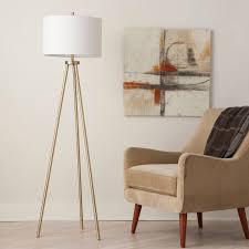 Brass Home Decor by Tripod Floor Lamp Antique Brass Threshold U0026 153 Ebay
