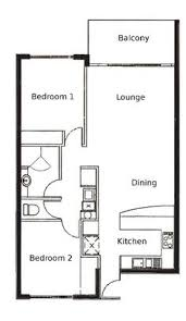 Floor Plan 2 Bedroom Apartment Green Concept Home Modus V Studio Architects House Bedrooms