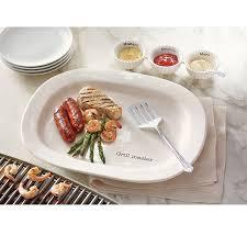 Backyard Grill Fdl by Amazon Com Mud Pie Grill Master Platter Set White Kitchen U0026 Dining