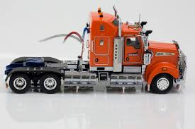 kenworth models kenworth models kenworth t909 prime mover drake orange blue