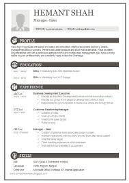 Free Resume Templates   Primer Brefash