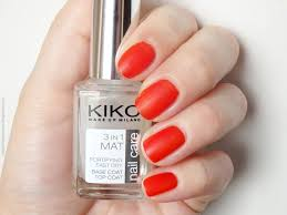 review kiko 3 in 1 mat fortifying fast dry base and top coat