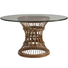 Bamboo Dining Room Furniture by Round Metal Dining Table Italian Oak And Scrolled Iron Round