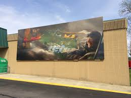 cheeseland chapter eaa 431 brodhead wisconsin a home for wall murals in town representing periods in the city s history this one features brodhead airport and is mounted on the front wall of the piggly wiggly