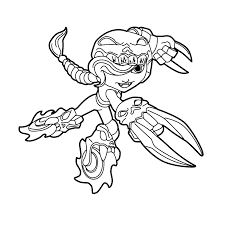 skylanders swap force roller brawl coloring pages for kids