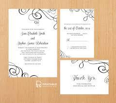Editable Wedding Invitation Cards Free Free Pdf Templates Easy To Edit And Print At Home Elegant Ribbon