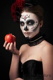 Halloween Makeup Application by Sugar Skull Glamour Halloween Fashion Photo Shoot Annadventure