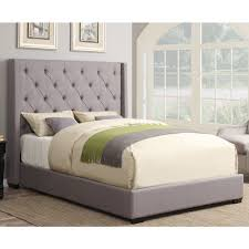Palliser Alula Contemporary Shelter Fabric Upholstered Bed In Ash Humble Abode