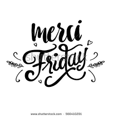black friday artwork merci friday hand drawn lettering vector stock vector 560410201