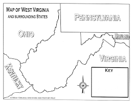 Map Of West Virginia Counties Virginia And Surrounding States Map Virginia Map