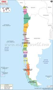 Political Map Of Latin America by Political Map Of Chile Chile Regions Map