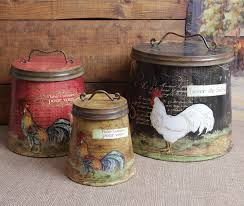 28 country kitchen canisters 4 piece country store kitchen country kitchen canisters shabby country chic rooster tin canister set home decor ebay