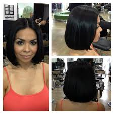 one length bob beautiful long hairstyle