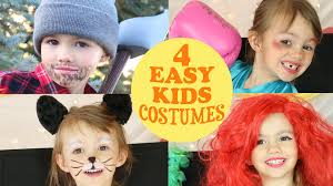 easy halloween costume ideas 4 cute u0026 easy costume ideas for kids youtube