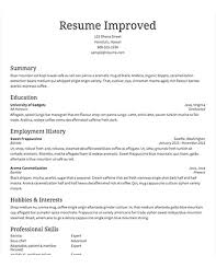 Resume Example  Good Sample Resume For First Job Template First       resume happytom co