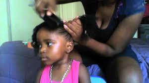 haircuts for curly hair kids natural hair styles for toddlers two curly pony tails youtube