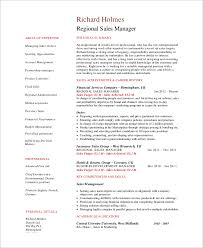 Sales Manager Sample Resume by Sample Sales Manager Resume 9 Examples In Word Pdf
