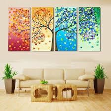 Home Decor Walls Art Colorful Rain Wall Canvas Wall Art Living Room Wall Decor