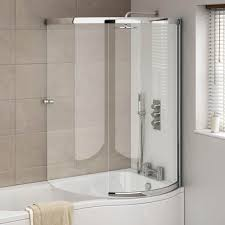 p shape shower bath 1500 1700mm with full screen left or right