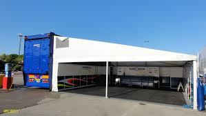 panoramio photo of truck trailer team motorhome garage