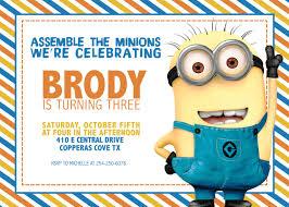Free Printable Birthday Invitation Cards With Photo Best 25 Minion Party Invitations Ideas On Pinterest Minion