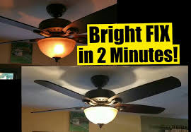 Which Way Should Ceiling Fan Turn 2 Min Fix For Dim Ceiling Fan Lights Safe No Wiring Wattage