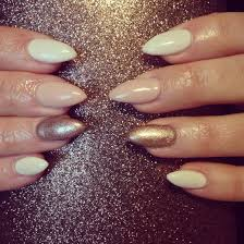 rose gold and cream gel nails nail ideas pinterest