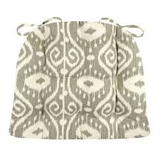 buy dining chair pad with ties bali ikat blue extra large