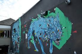 Wolf Mural the 5 second test with vancouver murals amanda ng daily