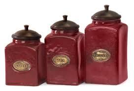 amazon com set of 3 rustic red lidded ceramic kitchen canisters amazon com set of 3 rustic red lidded ceramic kitchen canisters kitchen dining