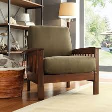 living room chairs amazon com tribecca home hills modern mission style oak