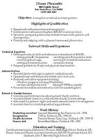 Phlebotomist Resume Sample No Experience by Example Of Medical Assistant Resume
