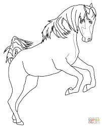 running arabian horse coloring page free printable coloring pages