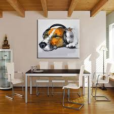 abstract home decor new handmade wall painting music dog paintings picture on canvas