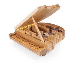 Cool Knife Block Amazon Com Picnic Time U0027piano U0027 Bamboo Cheese Board Tool Set 9