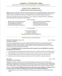 Mba Sample Resume by Executive Assistant Resume By Aaron J Stedham Mba Writing