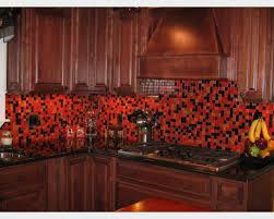 Glass Kitchen Backsplash Red Glass Tile Kitchen Backsplash Remarkable 17 Glass Kitchen
