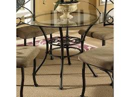 steve silver brookfield round glass top dining table u0026 4 side