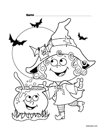 halloween witch coloring pages getcoloringpages com