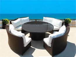 Wicker Outdoor Furniture Sets by Round Wicker Patio Furniture Cassandra Round Outdoor Wicker Dining